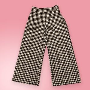 NWT Zara black & white houndstooth pants